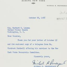 Letter: 1955 October 28