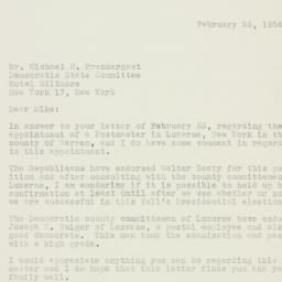 Letter: 1956 February 26