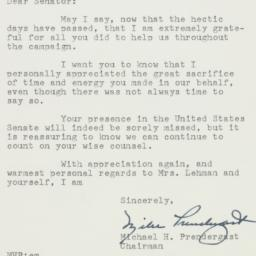 Letter: 1956 November 14