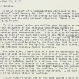 Letter: 1960 January 29