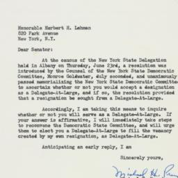 Letter : 1960 June 24