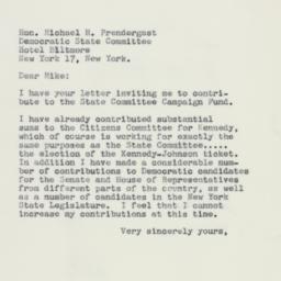 Letter : 1960 October 25