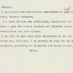 Letter : 1957 September 9