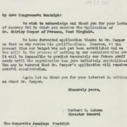 Letter : 1944 January 12
