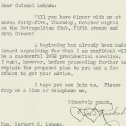 Letter : 1931 October 2