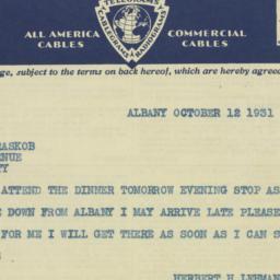 Letter : 1931 November 25