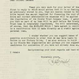 Letter : 1931 December 10