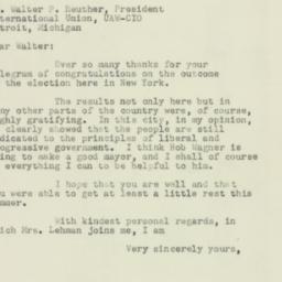 Letter : 1953 November 7