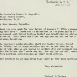 Letter : 1944 January 19