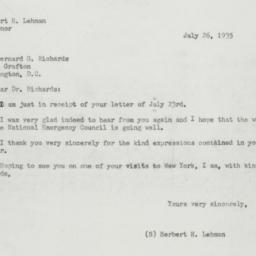 Letter : 1935 July 26