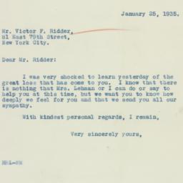 Letter : 1935 January 25