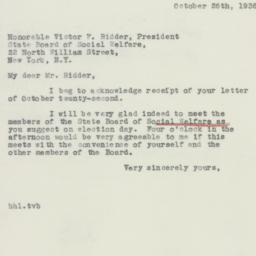 Letter : 1936 October 26