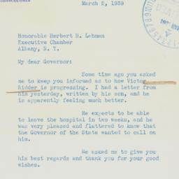Letter : 1939 March 2