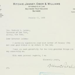 Letter : 1935 January 21