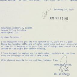 Letter : 1956 February 20