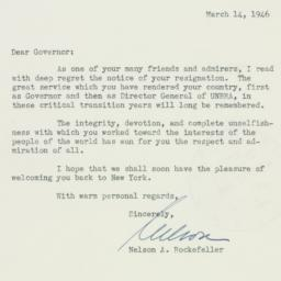 Letter : 1946 March 14