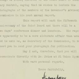 Letter: 1925 November 4