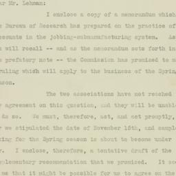Letter : 1925 November 19