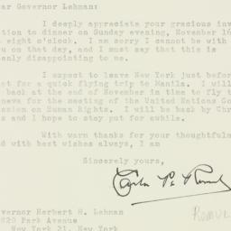 Letter : 1947 November 3
