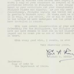 Letter : 1952 May 22