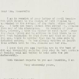 Letter : 1930 May 5