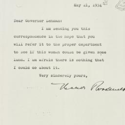 Letter: 1934 May 21