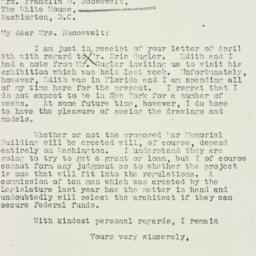 Letter: 1935 April 15