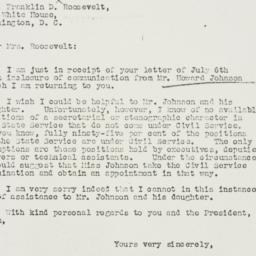 Letter: 1935 July 16
