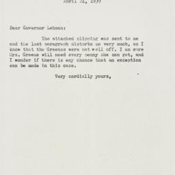Letter: 1939 April 24