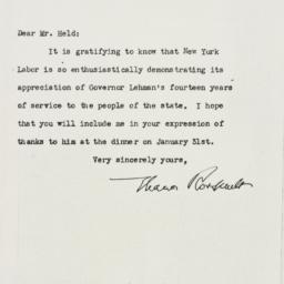 Letter: 1943 January 13