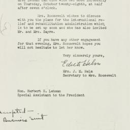 Letter: 1943 October 19