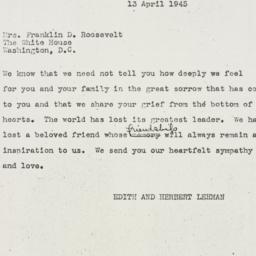 Letter: 1945 April 13