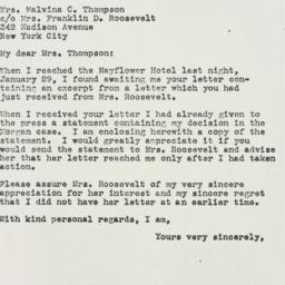 Letter: 1946 January 30