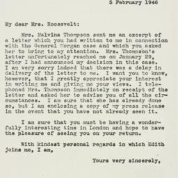 Letter: 1946 February 5