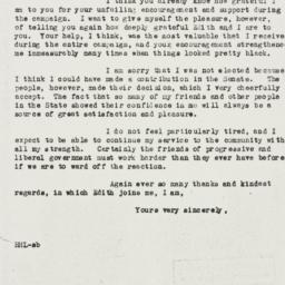 Letter: 1946 November 10
