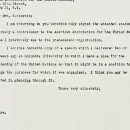 Letter: 1947 April 27