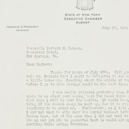 Letter: 1931 July 30