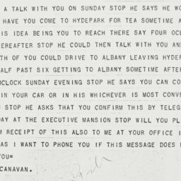 Telegram: 1931 August 21