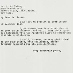 Letter: 1932 December 16
