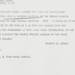 Telegram: 1934 June 29