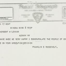 Telegram: 1934 August 8