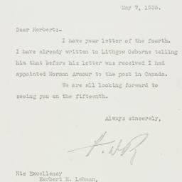 Letter: 1935 May 7
