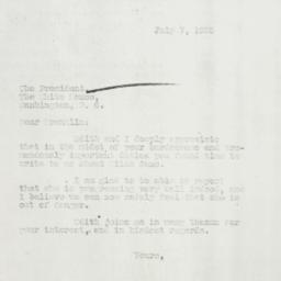 Letter: 1935 July 7
