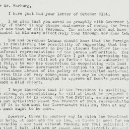 Letter: 1935 October 29