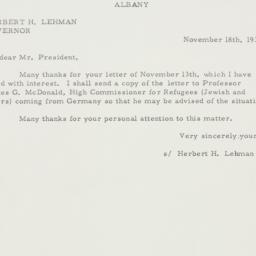 Letter: 1935 November 18