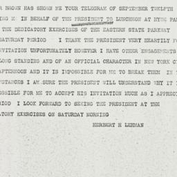 Telegram: 1936 September 15