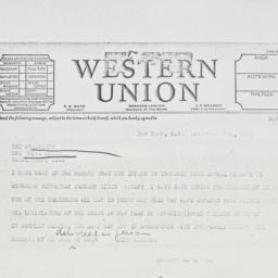Telegram: 1936 December 29