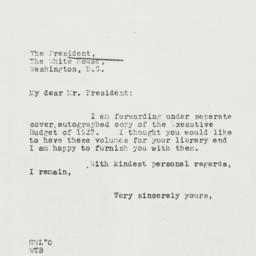 Letter: 1937 March 9