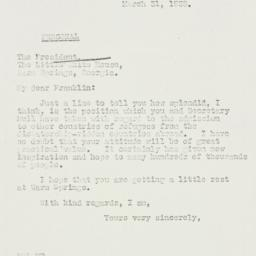Letter: 1938 March 31