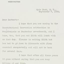 Letter: 1938 September 7
